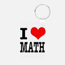 I Heart (Love) Math Keychains