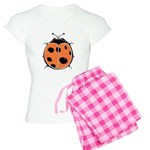 Cute Round Ladybug Women's Light Pajamas