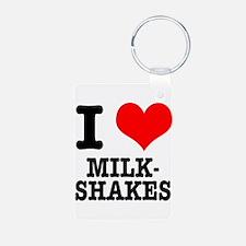 I Heart (Love) Milkshakes Keychains