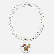 Ladybugs on Leaves Bracelet