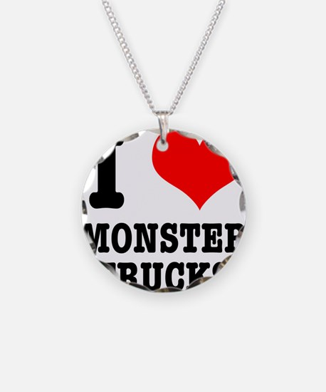 I Heart (Love) Monster Trucks Necklace