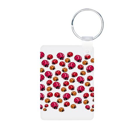 Ladybugs Aluminum Photo Keychain