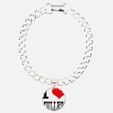 I Heart (Love) Mullets Charm Bracelet, One Charm