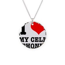 I Heart (Love) My Cell Phone Necklace