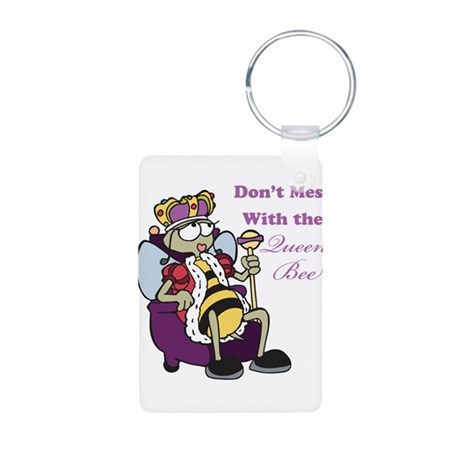 Don't Mess With Queen Bee Aluminum Photo Keychain