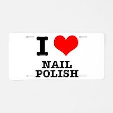 I Heart (Love) Nail Polish Aluminum License Plate