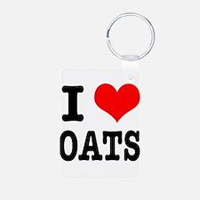 I Heart (Love) Oats Keychains