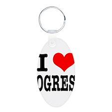 I Heart (Love) Ogres Keychains