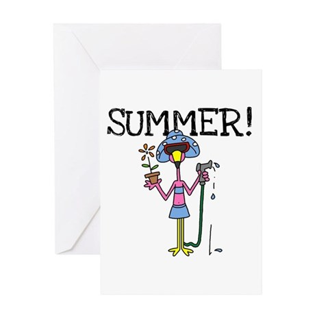 Flamingo Summer Greeting Card