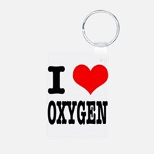 I Heart (Love) Oxygen Keychains
