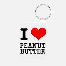 I Heart (Love) Peanut Butter Keychains