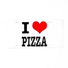 I Heart (Love) Pizza Aluminum License Plate