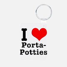 I Heart (Love) Porta Potties Keychains