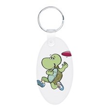 Turtle Playing Frisbee Keychains