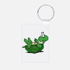 Turtle on His Back Keychains