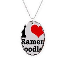 I Heart (Love) Ramen Noodles Necklace