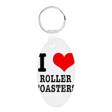 I Heart (Love) Roller Coaster Keychains