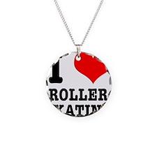 I Heart (Love) Roller Skating Necklace