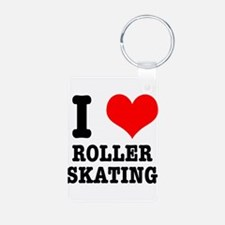 I Heart (Love) Roller Skating Keychains