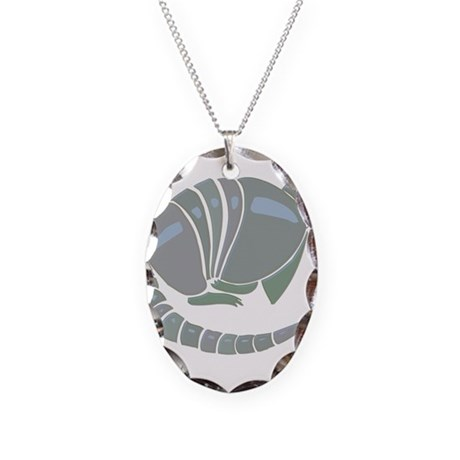 Armadillo Necklace Oval Charm