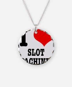 I Heart (Love) Slot Machines Necklace