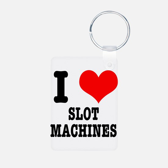 I Heart (Love) Slot Machines Keychains