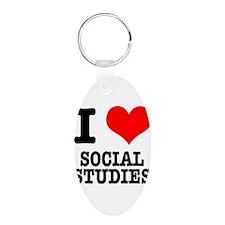 I Heart (Love) Social Studies Keychains