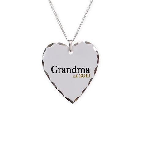 New Grandma Est 2011 Necklace Heart Charm