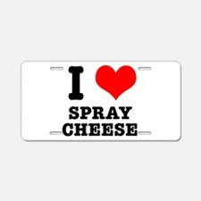I Heart (Love) Spray Cheese Aluminum License Plate