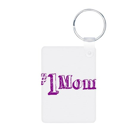 #1 Mom (Mother's Day) Aluminum Photo Keychain