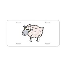 Silly Sheep Aluminum License Plate