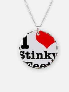 I Heart (Love) Stinky Feet Necklace