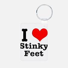 I Heart (Love) Stinky Feet Keychains