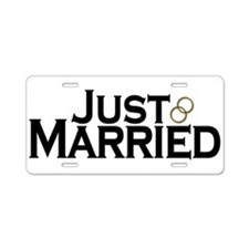 Just Married Aluminum License Plate