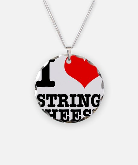 I Heart (Love) String Cheese Necklace