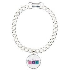 Girls Tri Harder Charm Bracelet, One Charm