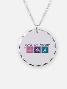 Girls Tri Harder Necklace