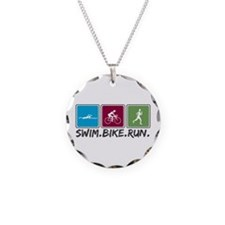 Swim Bike Run Necklace