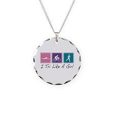 Tri Like A Girl Triathlete Necklace