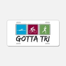 Gotta Tri (Triathlon) Aluminum License Plate