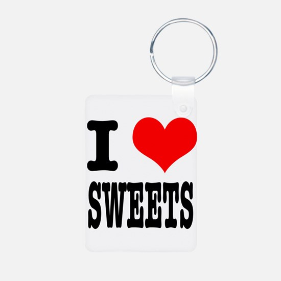I Heart (Love) Sweets Keychains
