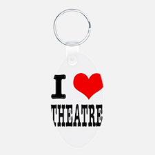 I Heart (Love) Theatre Keychains