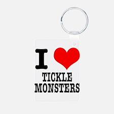 I Heart (Love) Tickle Monster Keychains