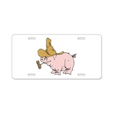 Hillbilly Country Pig Aluminum License Plate
