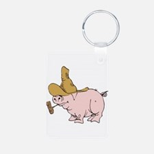 Hillbilly Country Pig Keychains