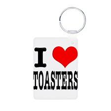 I Heart (Love) Toasters Keychains