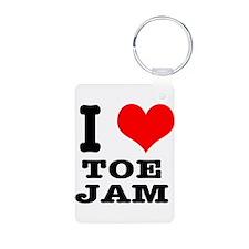 I Heart (Love) Toe Jam Keychains