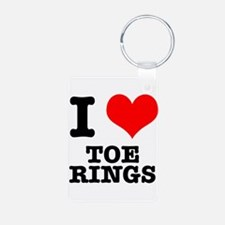 I Heart (Love) Toe Rings Keychains