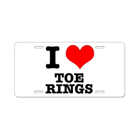 I Heart (Love) Toe Rings Aluminum License Plate