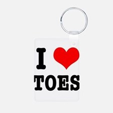 I Heart (Love) Toes Keychains